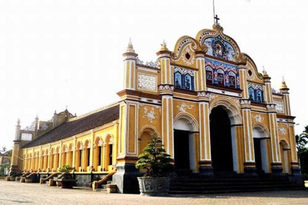 Top 5 những điểm du lịch đẹp nhất Nam Định Nhà thờ Đông Cường