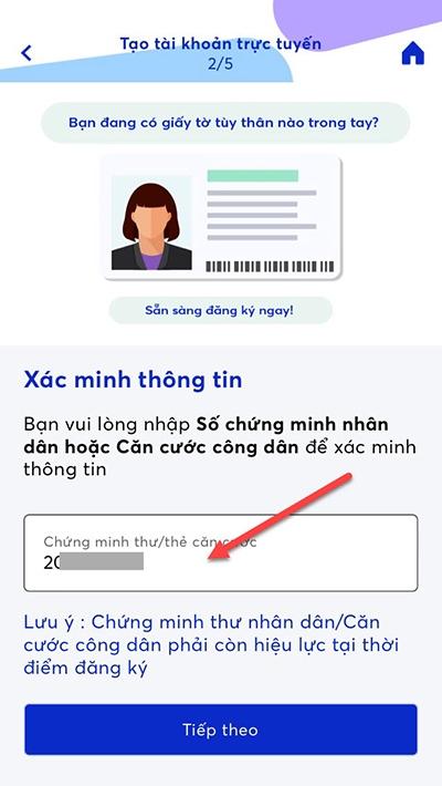 lập tài khoản ngân hàng MB Bank qua app