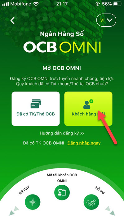 cách đăng ký tài khoản OCB online