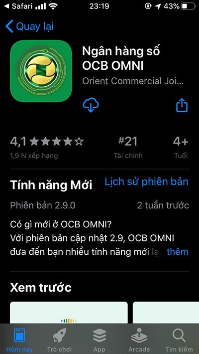 đăng ký tài khoản OCB OMNI online